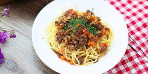 Rezept für Spaghetti Bolognese mit Gemüse – mit Video